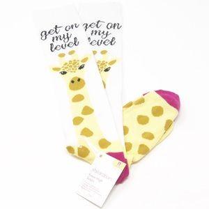 NEW XHILARATION Giraffe Knee Socks-Size 4-10